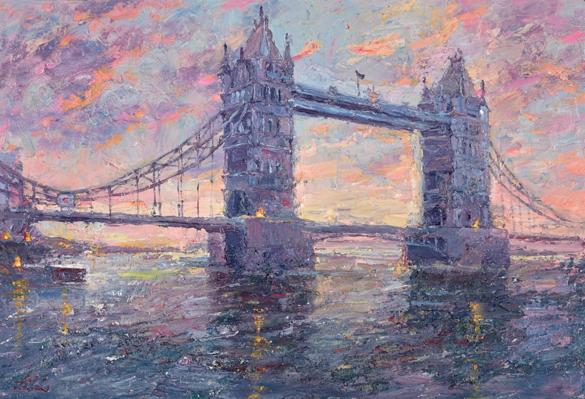 Sunset, Tower Bridge by lana okiro -  sized 19x13 inches. Available from Whitewall Galleries